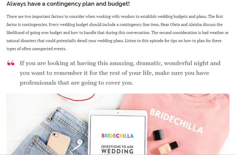CREATING YOUR WEDDING MOOD BOARD WITH OLETA COLLINS